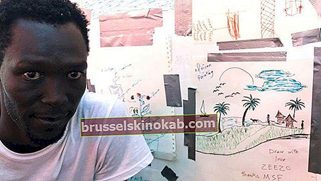 Indvandrere bruger tegninger til at beskrive deres mareridt