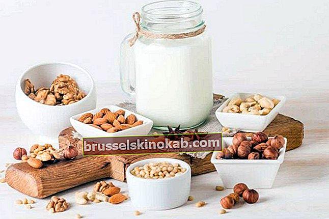 Hvordan man laver vegetabilsk mælk af mandler, kokos og yams