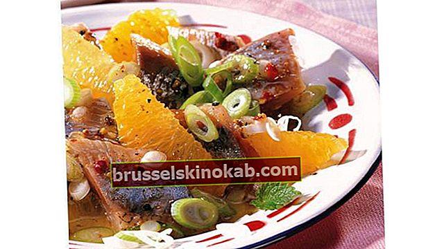 13 salatopskrifter med appelsiner og andre frugter
