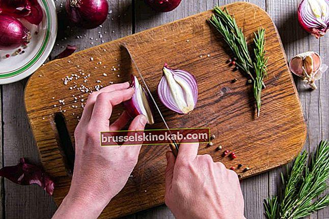 איך להיפטר מהריח והכתמים בידיים בבישול